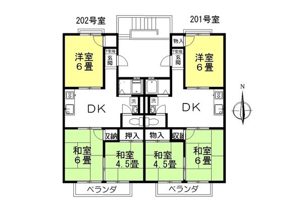 3DK スプリングホームズⅠ 202号室のサムネイル