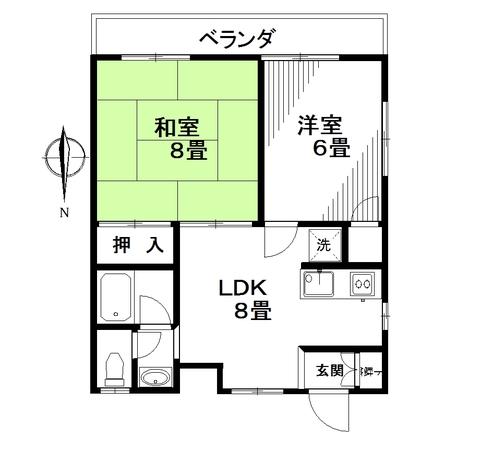 ハイツタナカ第Ⅱ 202号室のサムネイル